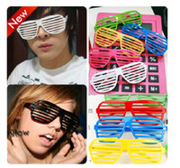 Wholesale Mixed order eyeglass Disco dance spectacle blinds shutters glasses colored glasses fun party glasses