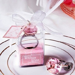 Wholesale With This Ring quot Engagement Ring Key Chain Novelty Giant Diamond Keychain