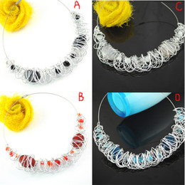 Wholesale necklaces aluminum wire winding newest beaded collar necklace colors each color NL B