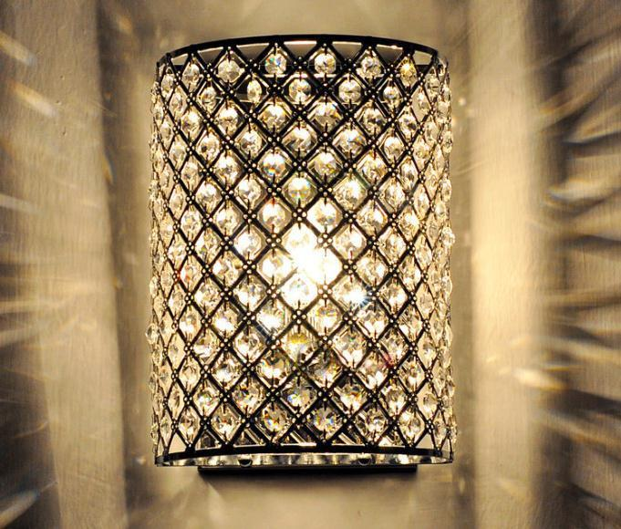 New Modern Crystal Wall Lamp Sconces Bracket Light Wall Fitting
