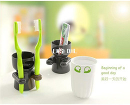 Wholesale Factory price Toothbrush holder Cups set Suitable for family use PS PP material lovely style