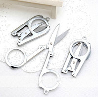 Wholesale Portable Stainless Steel Folding Scissors Travel Office Home Scissors Stationery