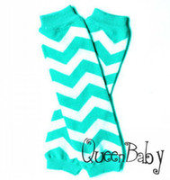 Wholesale Blue Christams gift Chevron Baby Leg Warmer infant colorful leg warmer child socks Legging Tights Leg Warmers Arm warmers Zig zag Leggings