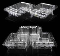 ECO Friendly individual cupcake boxes - Plastic Single Individual Cupcake lunch box Muffin Holders Cases Boxes Cups Pods