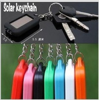 Wholesale Fashion Portable Car Keychain With LED Light MINI Energy Rechargeable Solar Flashlight Solar lights outdoor camping lamp key chain ring