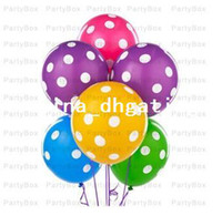 mix colors balloon pastel - Polka Dot White Spots Pastel quot Qualatex Balloons