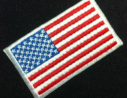 Wholesale Wholesales Pieces USA Flag x cm World Flag Embroidered Iron On Applique Patch Punk Patch