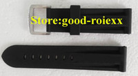 Rubber Black  Factory Seller Black Rubber watch Strap Clasp Pam Top Quality 1950 Mens Deployment Rubber Band Wacthes