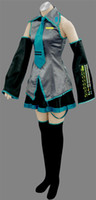 Women anime halloween costume - New Vocaloid Miku Hatsune Cosplay Costume Ten pieces of kit