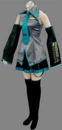 Wholesale New Vocaloid Miku Hatsune Cosplay Costume Ten pieces of kit