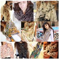 Wholesale Chiffon silk scarf scarf female all match scarf long design air conditioning cape