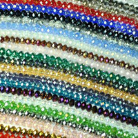 crystal beads - 4 MM Faceted Roundlle Austria Crystal Bead Charms Loose Beads Supplies