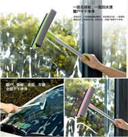 Wholesale Detachable Duplex Glass Rub Sponge Windshield Wiper Cleaning Blade Window Rag Dusting Brush Washing Tools