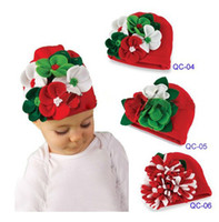 Winter arrival hand hat - Christmas new arrival Flowers by hand autumn winter baby caps beanies hat toddler boys girls hat infant cap QS240