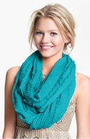 Wholesale The Ringer Infinity Scarf Solid color Soft Cotton Infinity Scarves Mix Order