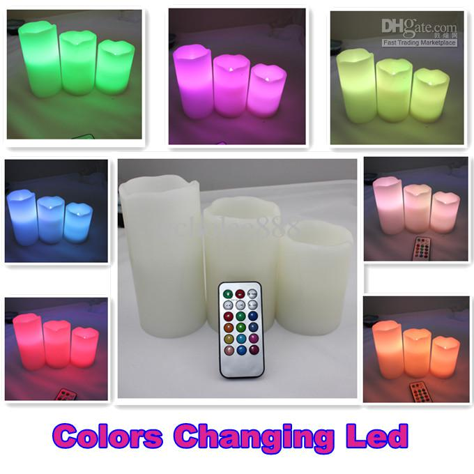 Remote Control Pillar Wax Led