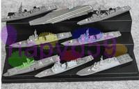 al por mayor pacific-modelos destructor montado navales ornamentos colección modelo escenario del Pacífico de EE.UU. naval modelo de flota de portaaviones acorazado militar 8pcs / set