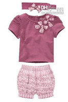 Wholesale amissa baby pieces with beautiful bow piece toddler clothing set baby sample