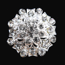 Sparkle Clear Crystal Small Flower Women Pins brooches B642 Pretty Silver Tone Crystal Flower Women Jewelry Pin
