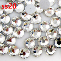 Cheap 1440pcs lot crystal color ss20 (4.6-4.8mm) crystal glass Rhinestone flatback rhinestones silver foiled free shipping