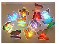 Noche de mariposa España-2013 nueva luz colorida de la noche de la mariposa del LED para el color del sitio de la boda que cambia la luz de la noche del LED para el envío libre del sitio de niños