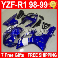 7 free gifts Blue white For YAMAYA YZF- R1 98- 99 98 99 YZF R1...