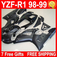 ALL Black 7 free gifts For YAMAYA YZF- R1 98- 99 98 99 YZF R1 ...