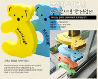 Wholesale Child kids Baby Animal Cartoon Jammers Dog Stop Door stopper holder lock Safety Guard Fing Finger Protect