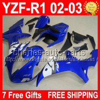 7 free gifts Blue white For YAMAYA 02- 03 02 03 YZF- R1 CMF211...