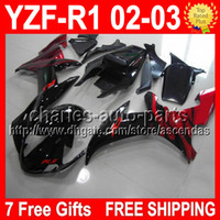 7 free gifts For YAMAYA 02- 03 02 03 YZF- R1 red flames YZFR1 ...