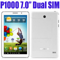 Wholesale MID P1000 quot inch Android Dual SIM G GSM Dual Camera Single Core Unlocked TAP Smart Tablet PC