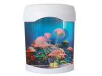 Wholesale White LED Aquarium Jellyfish Colorful Swimming Jellyfish Tank Lamp Nightlight Changes Hot Sale