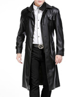 Wholesale Winter new style men leather jacket suit collar longer section detachable double collar plus thick velvet fur coat