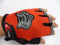 Wholesale Comfort Half Finger Sports Cycling Gloves Pair Black Red Blue Orange