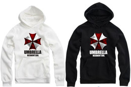 Free shipping NEW Arrival Biohazard logo printed hoodie Umbrella Corporation Corp Logo Resident Evil Costume Pullover hoddies 8 color