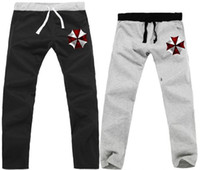 belt corporation - new Umbrella Corporation printed pants casual cotton Pants Resident Evil Biohazard sweatpants with elastic belt color