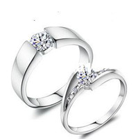 allure rings - Plated Platinum ring copper ring manufacturers The Zircon Allure couple Ring