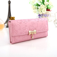 Wholesale Free Ship Heart Money Clips Change Coin Bag Women s Purse Handbag Ladies Wallet