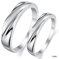 Wholesale Min order mix order platinum plated engagement rings WAVE DESIGN COUPLE RINGS SIZE FOR LADY FOR MAN