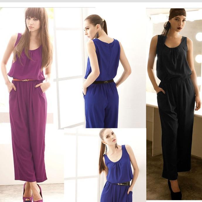 Online Cheap Hot Fashion Jumpsuit Women Casual Jumpsuit Western ...