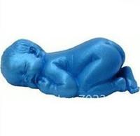 Vendita al dettaglio 1 pc/lotto Dormire il Bambino del Silicone di Forma Sapone Stampi Stampo da plum Cake Fondente Decorazioni