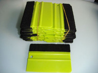 Wholesale Car vinyl Film wrapping tool tools Green Scraper squeegee with felt size cm China Post Air Mail