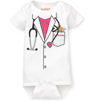 Wholesale baby boys bodysuits girls rompers doctor