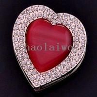 Metal ruby ring and diamond - The Lowest Price Heart Ruby and Diamond Ring Design Folding Purse hanger Bag Hanger Handbag Holder