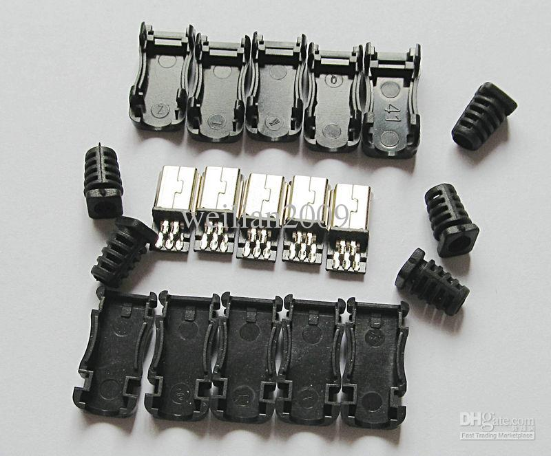 Diy straight tip mini usb male plug connector