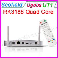 Wholesale Ugoos UT1 Quad Core RK3188T Android TV BOX TV Stick TV Dongle Android Double External Wifi G RAM G ROM Antenna Silvery