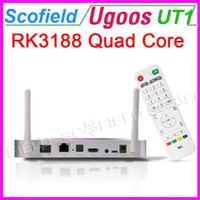 Wholesale Ugoos UT1 Quad Core RK3188T Android TV BOX TV Stick TV Dongle Android Double External Wifi GB RAM GB ROM Antenna Silvery