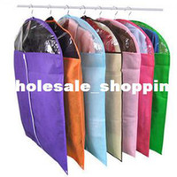 Wholesale 2013 New color flamboyant Mix color thickening non woven suit dust cover bag for clothes with transparent