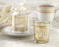 Wholesale Factory directly sale Wedding favor quot Golden Renaissance quot Glass Tealight Holder Wedding gifts Kate Aspen