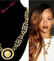 Wholesale 10 off sale classic Rihanna lion head hot necklace cheap jewelry necklace necklaces jewellery fashion new jewelry HG